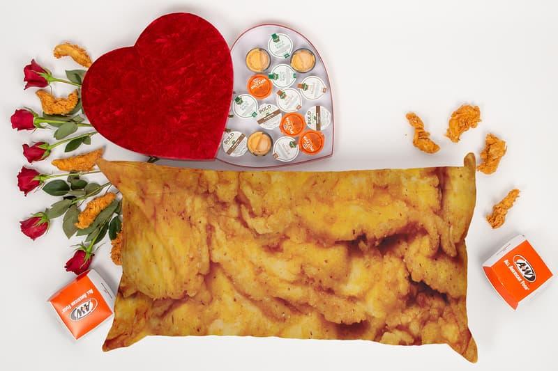 A&W Tender Lovin Valentines Day Fryer Oil Lip Balm Body Pillow Release Chicken Sandwich War