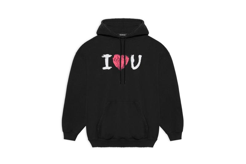 "Balenciaga Valentine's Day ""I Love You"" Capsule Collection Demna Gvasalia Mens Womens Unisex Sweaters Hoodies T-Shirts Bags Neo Classic Hourglass Handbags Bracelets Keychains Charms Mini Coin Purse Love Hearts February 14 Gifts to get Her Gifts for Him Presents"