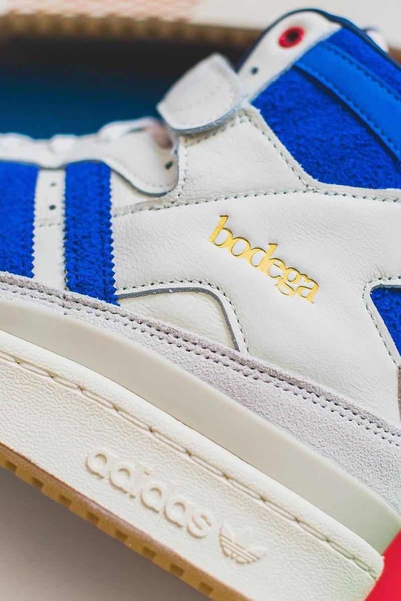 bodega adidas forum hi 84 friends and family limited 333 pairs colorway white blue red gum