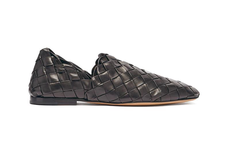 bottega veneta slipper loafer Intrecciato weave leather italy footwear fashion luxury padded black beige slip on sneaker formal casual