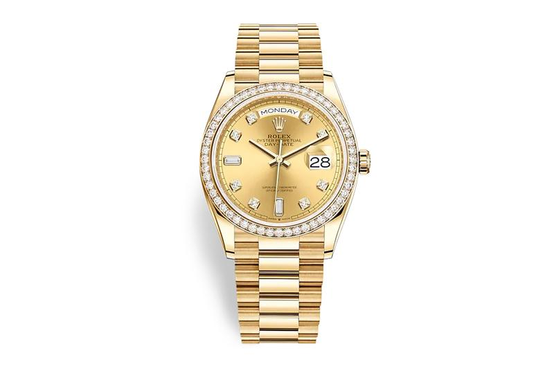 Floyd Mayweather Grandson Rolex Oyster Perpetual Datejust Gold Diamond Encrusted Wrist Check Accessories Luxury Watch
