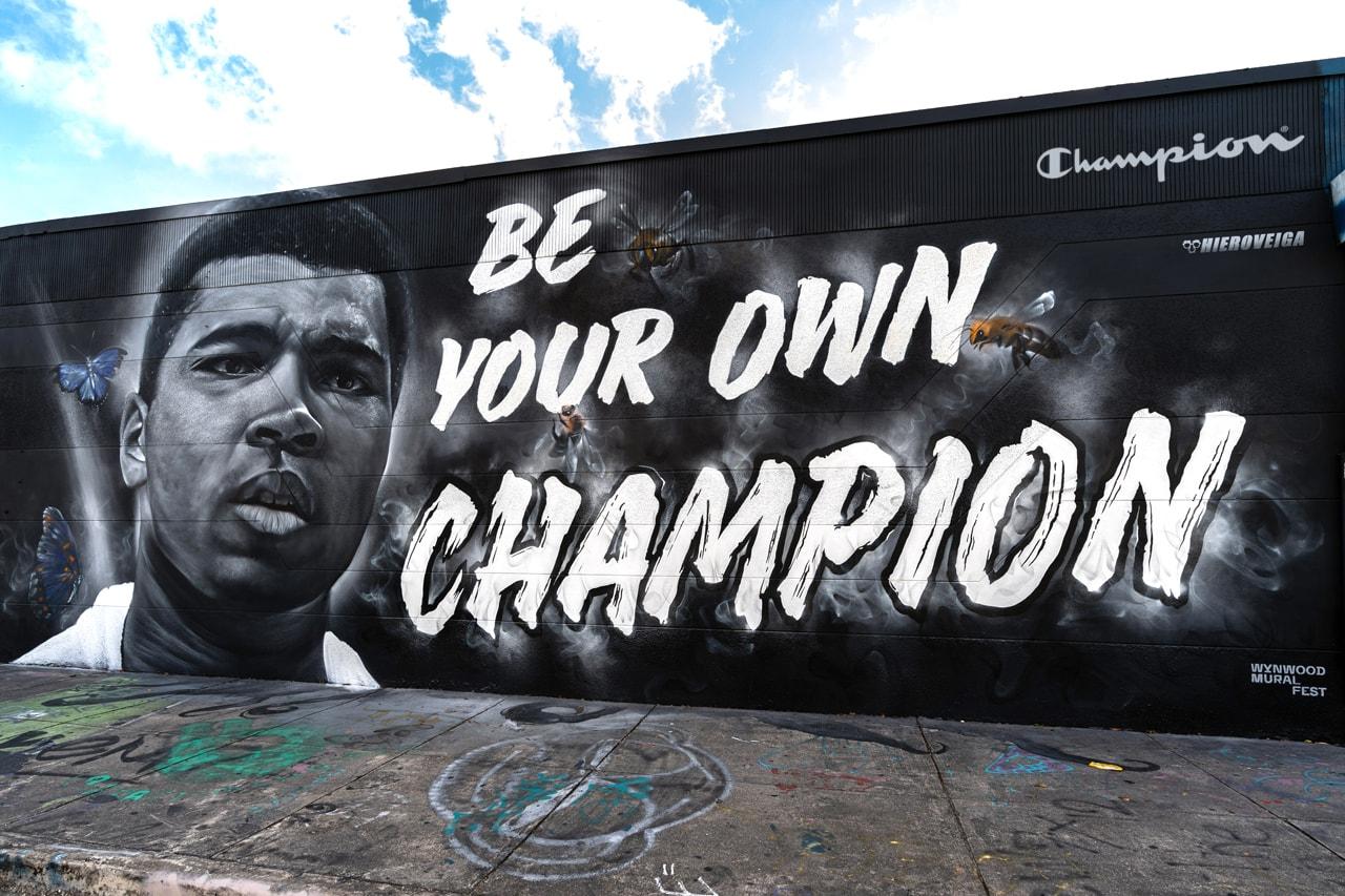 Hiero Veiga miami wynwood district graffiti art artists reverse weave hoodies t shirts crewnecks collaboration white black white men's