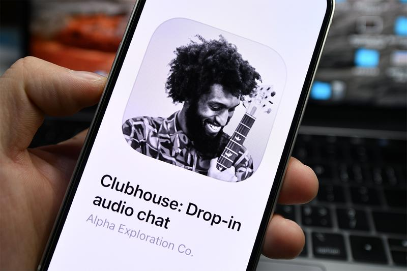 social media platform service audio clubhouse app store downloads eight million invite only prelaunch