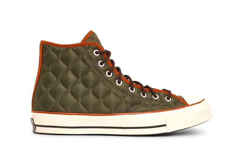 """Converse Chuck 70 Quilted Nylon Fleece Lining """"Black/Limestone Grey"""" """"Field Surplus/Amber Sepia"""" Spring Summer 2021 SS21 Sneaker Release Information Drop Date Closer First Look Technical Tactile Liner Jacket"""