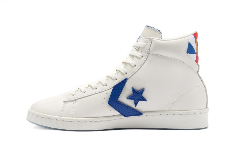converse pro leather hi high birth of flight aba 45th anniversary final season julius dr j erving free throw line dunk vintage white university red blue 170240C official release date info photos price store list buying guide