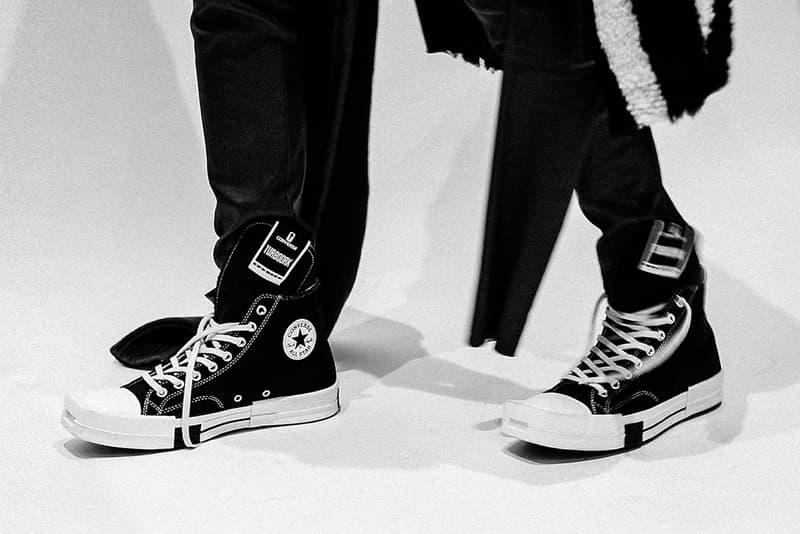 Converse Rick Owens DRKSHDW TURBODRK Chuck 70 On-Foot Look Release Info Fall Winter 2021 Price Buy