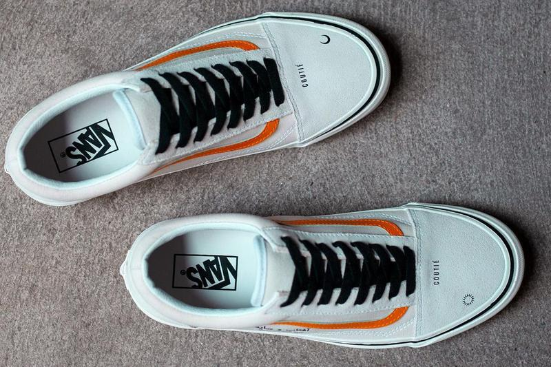 coutie custom vans old skool shadow and sun arabic text white black cream orange custom official release date info photos price store list buying guide