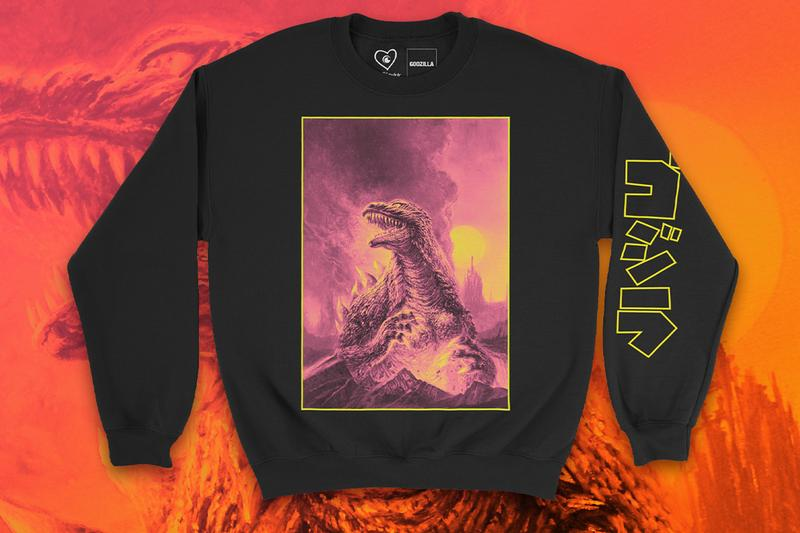 Crunchyroll Godzilla CR Loves Merch Collection Release Light Figure Compendium T shirt Hoodie Sweatshirt  Medicom Toy