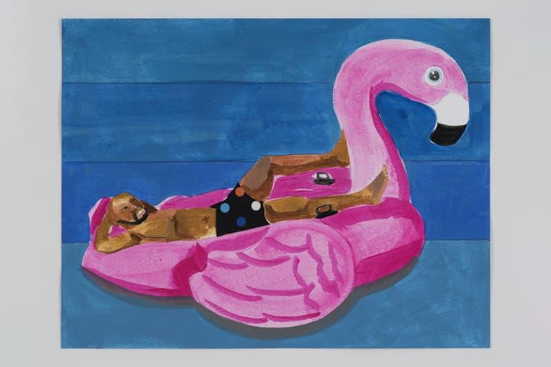 derrick adams the last resort exhibition exhibit paintings watercolors rhona hoffman gallery chicago dates information photos