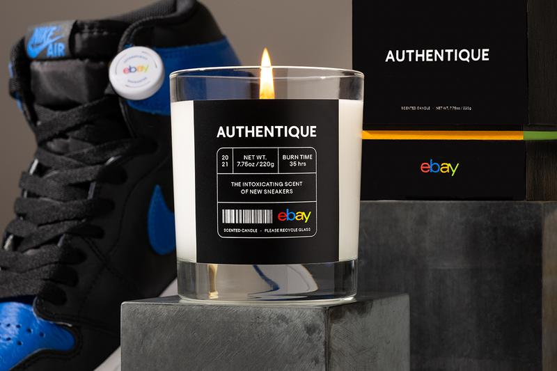 eBay Authentique New Sneaker Scented Candle February 14 Valentine's Day Drop Unboxing Smell Homeware Scents Design Footwear Shoes Clean Glue EVA Foam Pebbled Leather