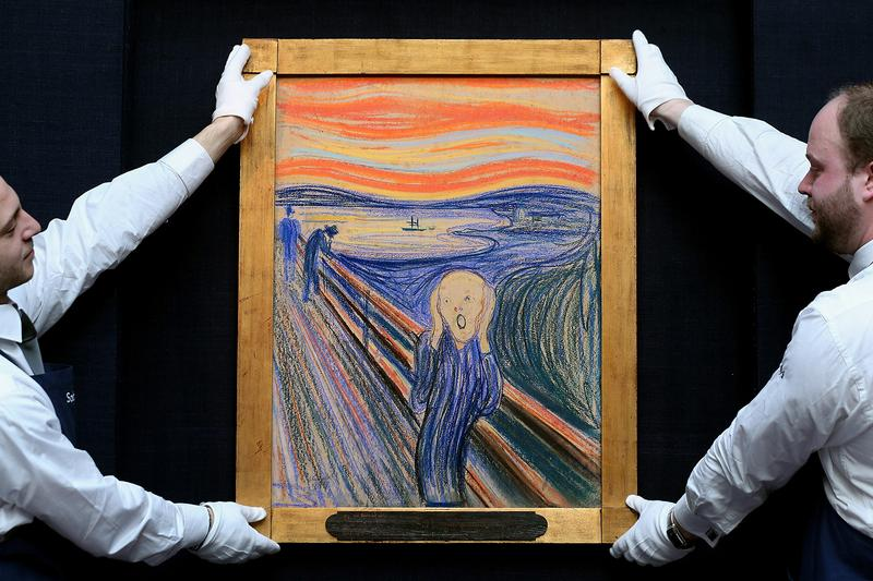 Edvard Munch The Scream Hidden Message News Can only have been painted by a madman Oslo Norway National Museum Paintings