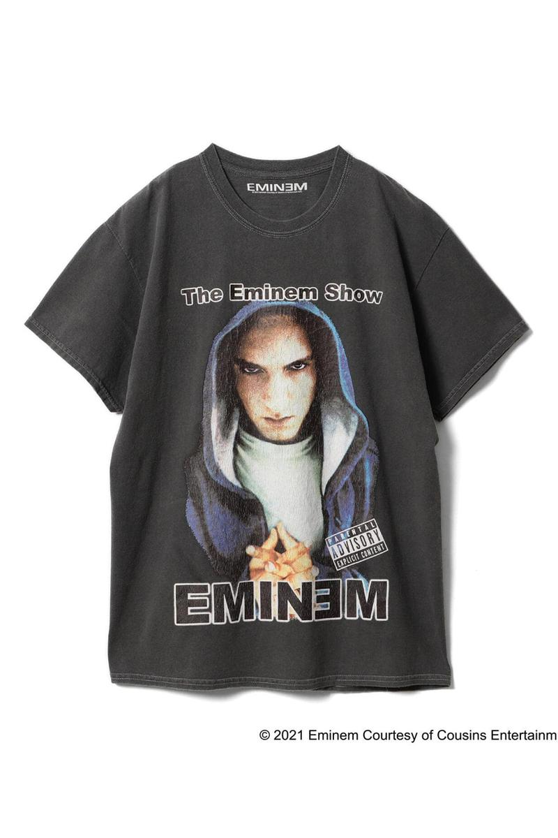 Insonnia Projects Eminem Vintage T-shirts for BEAMS international gallery the marshall mathers slim shady lp anger management tour tee reissue