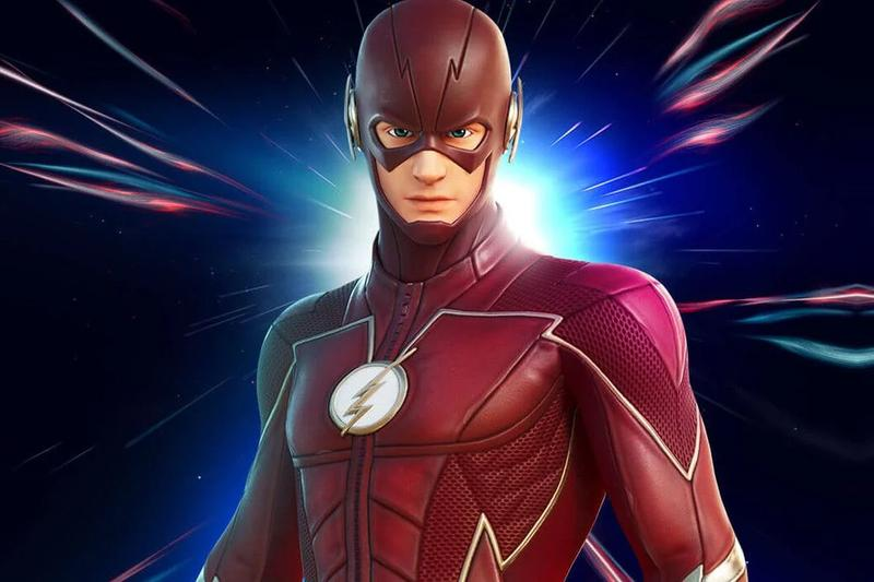 fortnite epic games battle royale dc comics the flash scarlet speedster fastest man alive skin set