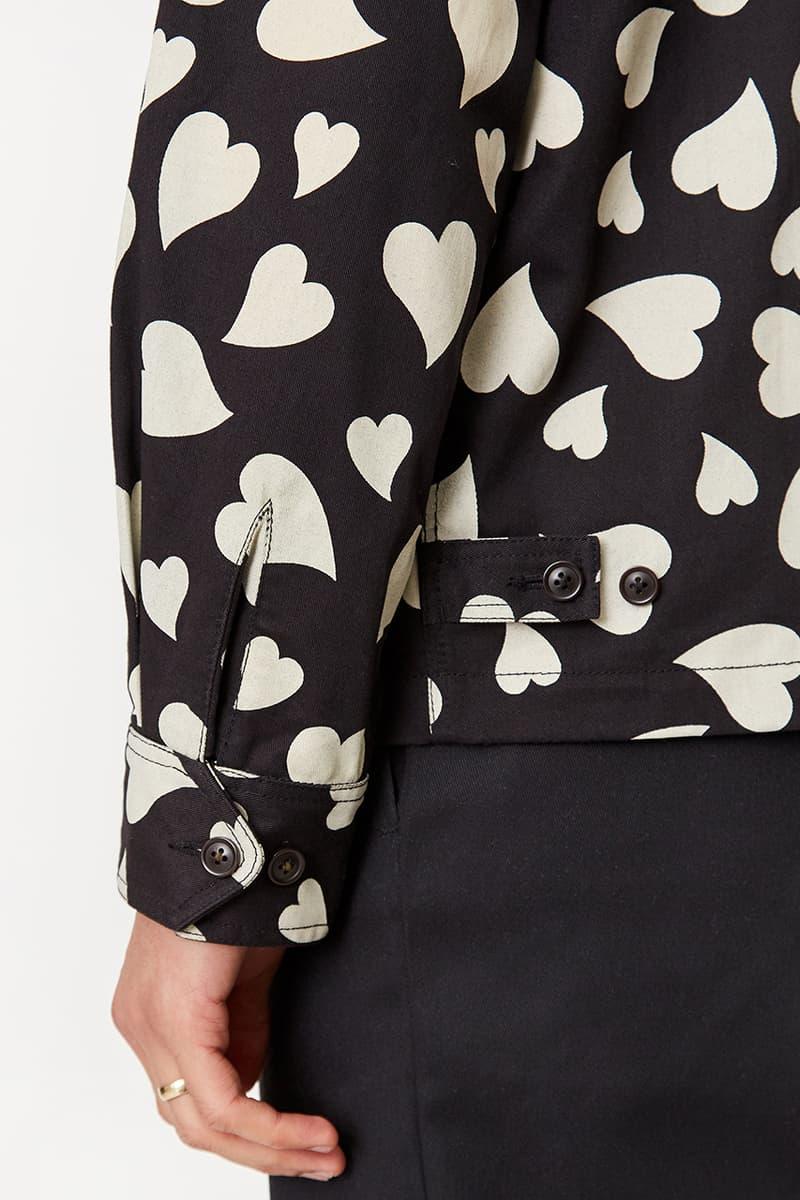 goodhood london universal works windcheater jacket release details black white ecru hearts