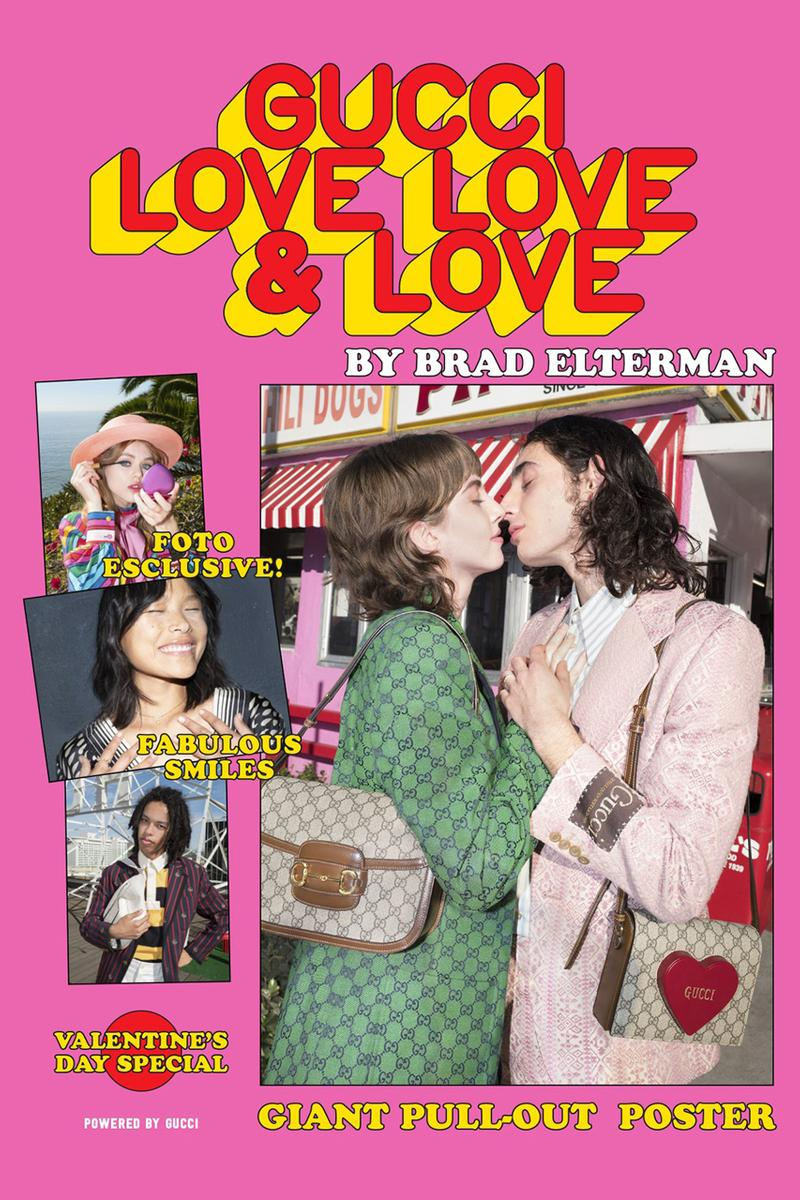 Gucci 'LOVE LOVE LOVE' Fanzine Valentines Day capsule collection bags lipstick makeup jewelry brad elterman