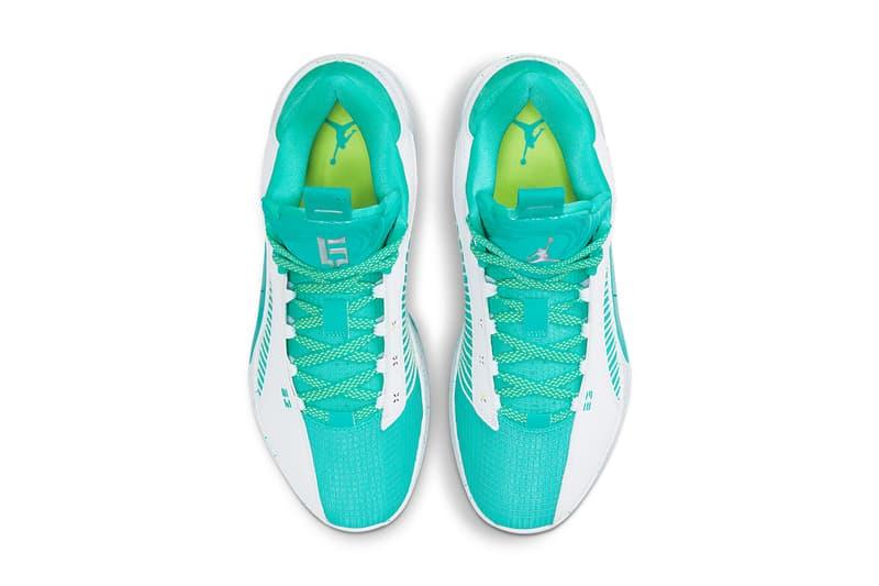 guo ailun air jordan 35 low pe DJ2994 100 white jade green release info store list photos price buying guide