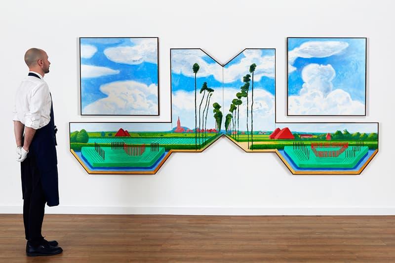 Sotheby's David Hockney Meindert Hobbema art auction painting the new yorker