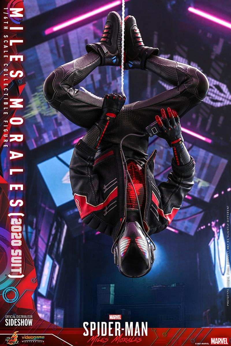 hot toys miles morales marvels spider man 2020 suit led battery powered 1 6th scale figure toys collectibles