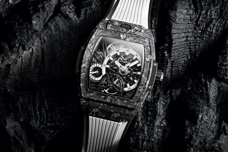 hublot swiss luxury watches spirit of big bang tourbillon white carbon limited edition 100