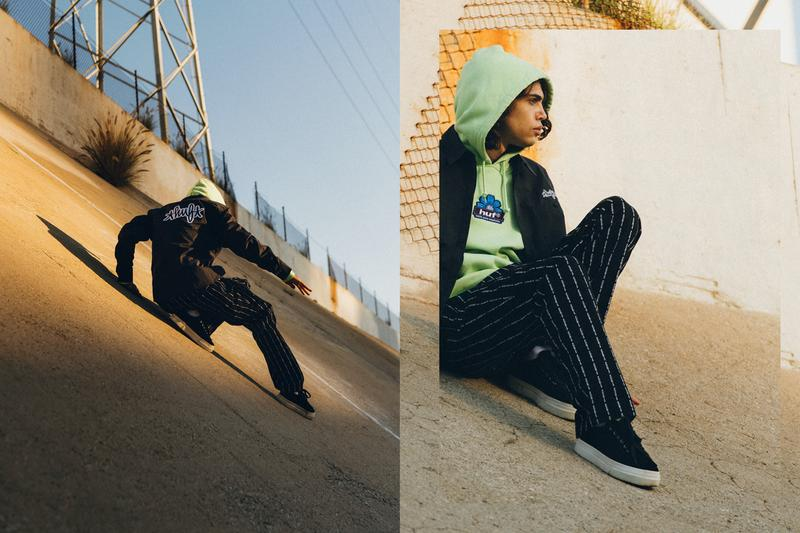HUF Spring Summer 2021 Collection Lookbook SS21 Skate Culture Early 2000s logomania Dustin Askland Los Angeles Keith Hufnagel San Francisco skateboarders