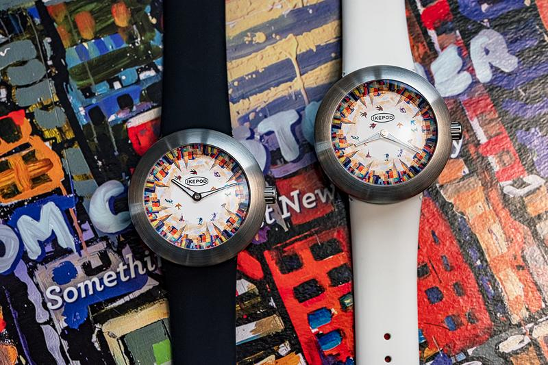 New York Artist Tom Christopher Paints the New York Skyline on Dial of Ikepod Skaters in the Sky