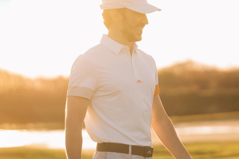 J.Lindeberg SS21 Temperature Acclimated Golf Ware Gradient Tech Active Mesh Featherlight Fabrics