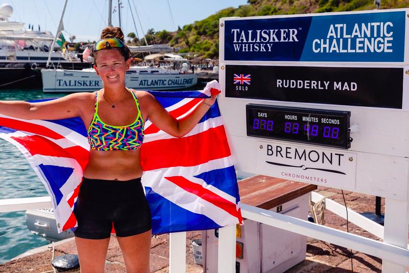Jasmine Harrison youngest woman to row solo across Atlantic ocean news Jasmine Harrison Youngest Woman Solo Row Atlantic Ocean Record   Talisker Whisky Atlantic Challenge rudderly mad