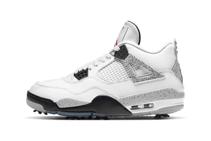 The Air Jordan 4 Golf Surfaces in White Cement Colorway