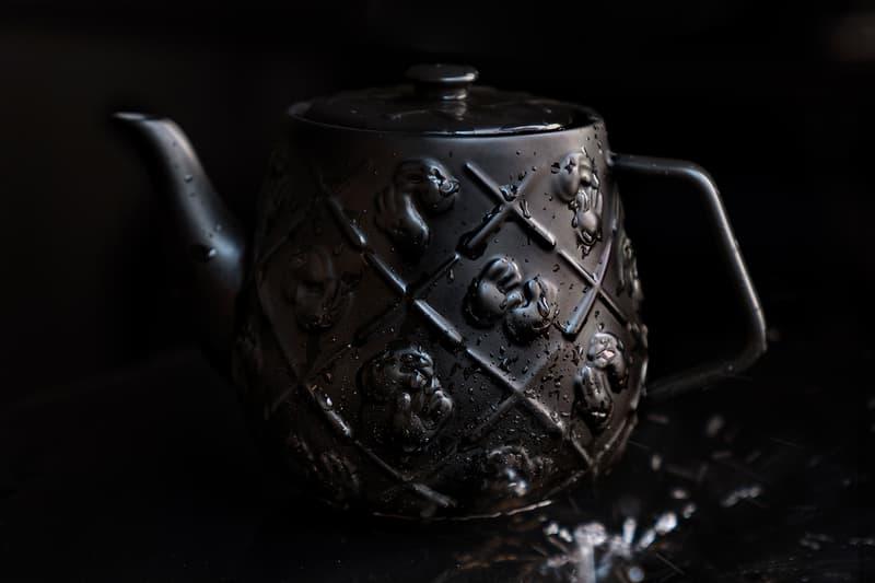 KAWS Black Ceramic XX Monogram Teapot Release AllRightsReserved DDTstore Brian Donnelly