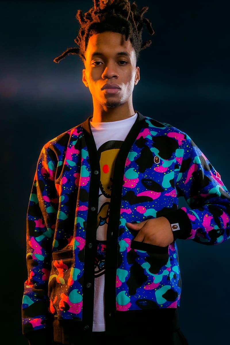 BAPE Kid Cudi 2021 Capsule menswear streetwear hoodies sweaters t shirts graphics sweats sweat pants shirts long sleeves jackets baby milo bape sta shark tiger collection