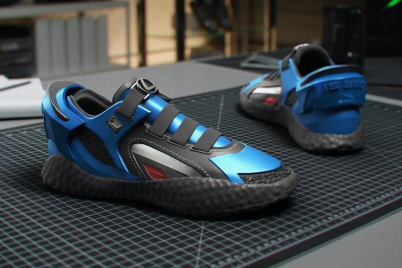 Lexus 2021 IS350 F Sport RTFKT Sneaker sports cars blue one-offs customs cars F-Sport footwear design kickis shoes sneakers