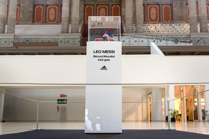 lionel messi mnac museu nacional d'art catalunya barcelona football boots record 644 goal art health pele santos details adidas soccer