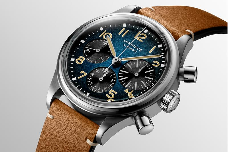 Longines Brings its 1930s Pilots Chronograph Into the 21st Century with Titanium Case and Blue Dial