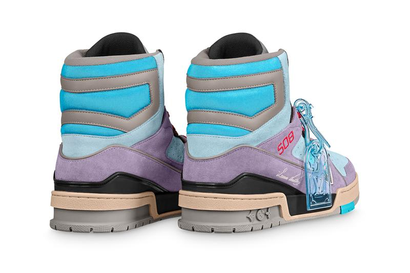 Louis Vuitton LV 408 Trainer Sneaker Boot 1A5YJ7 1A7R0P 1A7P2F Artistic Director Virgil Abloh Monogram Flowers Print Pattern High Top Bootie Hybrid Footwear Closer First Look Release Information Drop Date