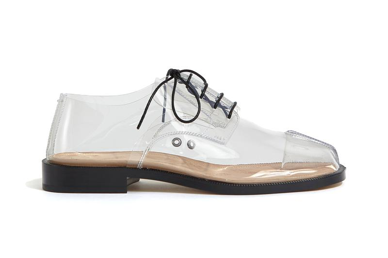 Maison Margiela Lace-Up Transparent Tabi Info see through plastic trainers release information