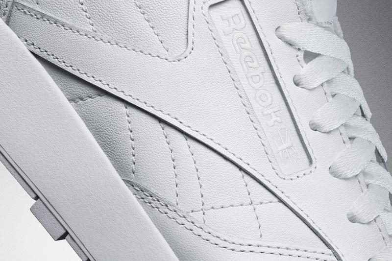 maison margiela reebok classic leather tabi sneakers white black official release date info photos price store list buying guide