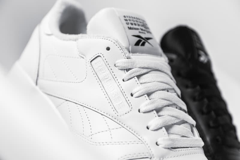 Maison Margiela Reebok Classic Leather Tabi Closer Look Release Info H04865 White Black Buy Price
