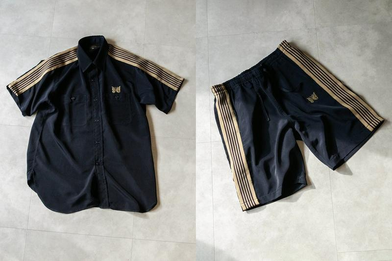 NEEDLES Track Shirt, Shorts for nano universe basketball work exclusive colorway collaboration ss21 spring summer 2021