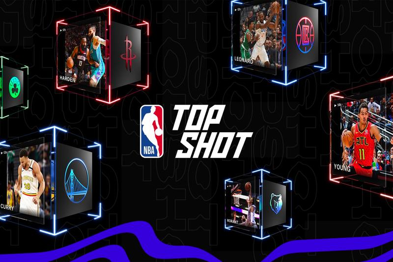 NBA Top Shot Digital Highlights Marketplace Record Sales Cryptocurrencies Basketball Trading Cards Steph Curry James Harden Kawhi Leonard Trae Young Lebron James Virtual trading card market