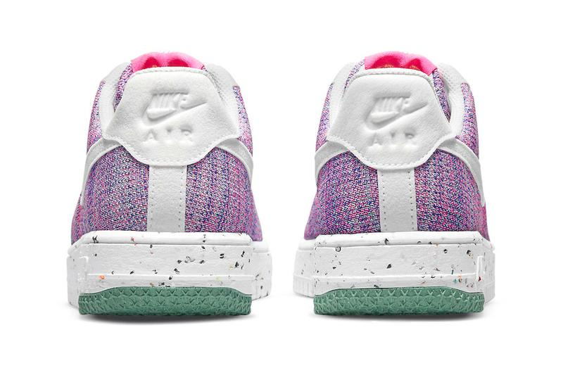 Nike Air Force 1 Flyknit 2 0 Pink Purple menswear streetwear kicks shoes sneakers runners trainers spring summer 2021 collection ss21 info dc7273-500