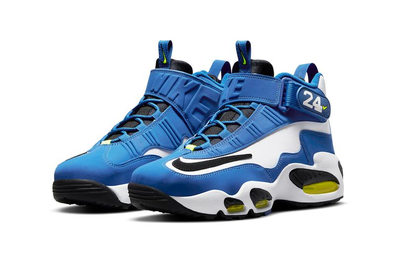 nike sportswear air ken griffey jr max 1 varsity royal white volt black dj5161 400 official release date info photos price store list buying guide