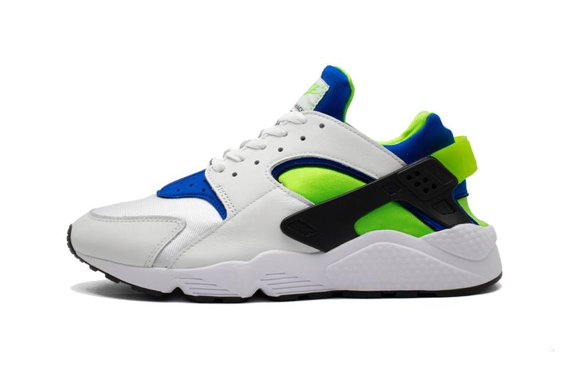 nike sportswear air huarache white scream green royal blue black DD1068 100 official release date info photos price store list buying guide
