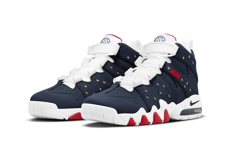 nike air max CB 94 charles barkley basketball sneakers footwear swoosh fashion olympic dream team patriotic usa red blue white gold medal