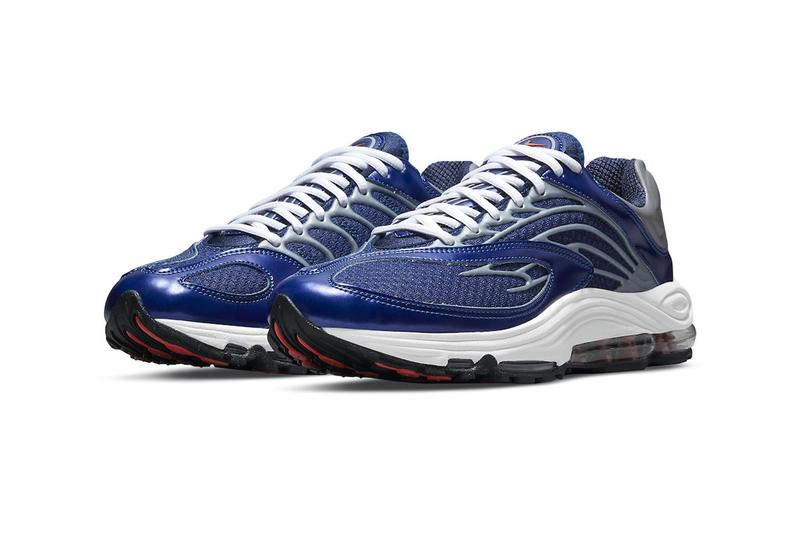Nike Air Tuned Max Midnight Navy Dragon Red Metallic Silver DH8623 400 menswear streetwear spring summer 2021 ss21 kicks trainers runners sneakers shoes footwear info