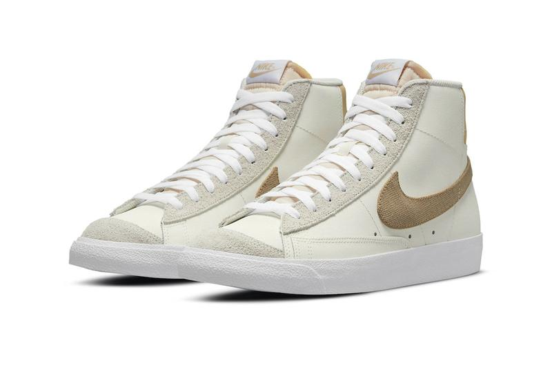 nike blazer mid 77 Cream dh4106 100 menswear streetwear kicks shoes sneakers trainers runners hi tops spring summer 2021 collection ss21 info