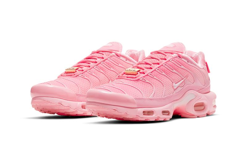 nike atlanta air max plus vapormax plus tpu lace cage pink gold mystic green black sneaker footwear trainers running upcoming city special air max 90 95 97 release info