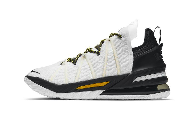 Nike LeBron 18 Home Official Look Release Info cq9283-100 Buy Price Los Angeles Lakers
