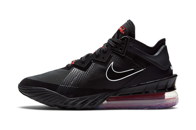 LeBron James' Nike Lebron 18 Low Appears in Familiar Black and Red