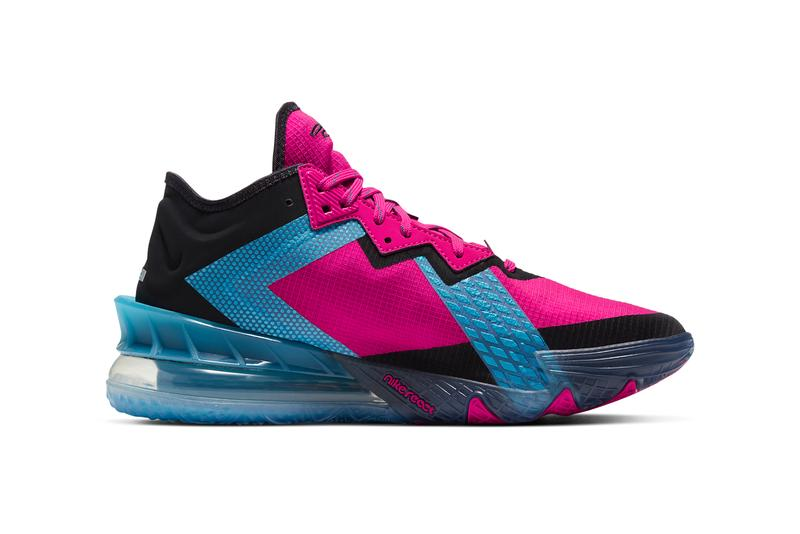 nike basketball lebron james 18 low fireberry light blue fury pure platinum black CV7562 600 official release date info photos price store list buying guide