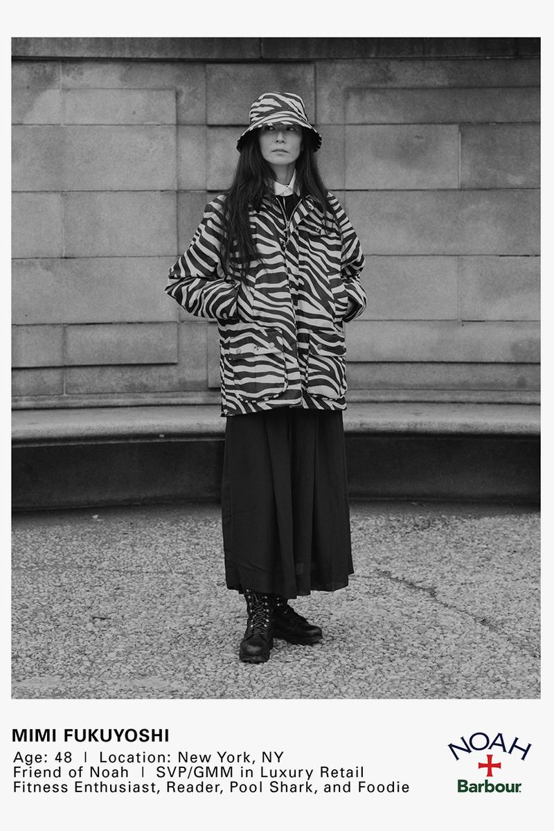 noah barbour spring summer 2021 wax jacket release information details brendon babenzien paisley zebra print